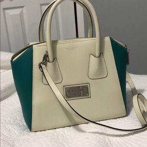 Like new Valentino white and teal handbag